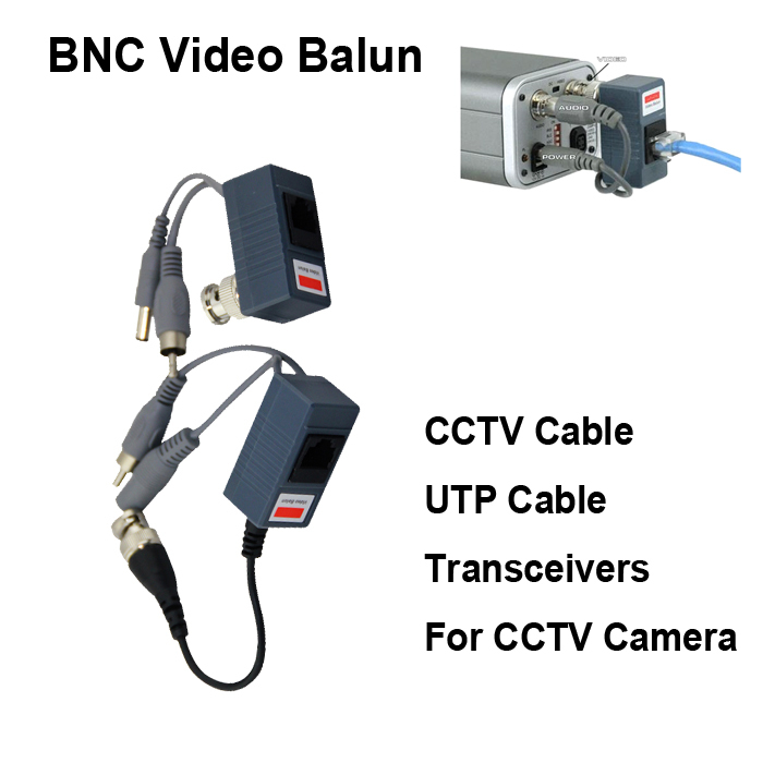 2014 hot UTP CCTV BNC video Balun power Passive Balun Rj45,POE Power Video Audio 3 in 1 Transceivers CCTV spare parts free ship(China (Mainland))