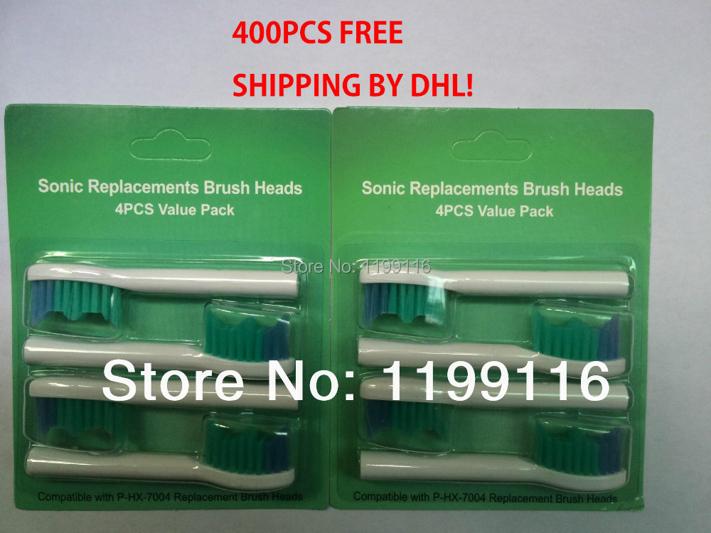 400pcs x new sonic replacement toothbrush heads for Philips P-HX-7004 electric toothbrush-soft bristles<br><br>Aliexpress