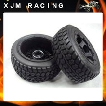 Buy second generation rear wheel road tires (x2pcs/set) assembly 1/5 scale HPI ROVAN Baja 5T king motor truck for $55.70 in AliExpress store