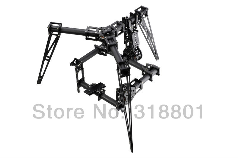 Carbon Fiber  3-Axis Brushless Aerial Gimbal/Stablizer DSLR 5D mkiii, GH3, BMCC with 5208-200T <br><br>Aliexpress