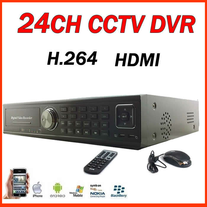 CCTV Security H.264 24CH HDMI real-time Playback Standalone Network DVR CMS, NetViewer and Web browser for remote management(China (Mainland))