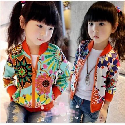 2016 новая мода девушки весна лето одежда дети ребенок sweatshirtouterwear Sun flower ...