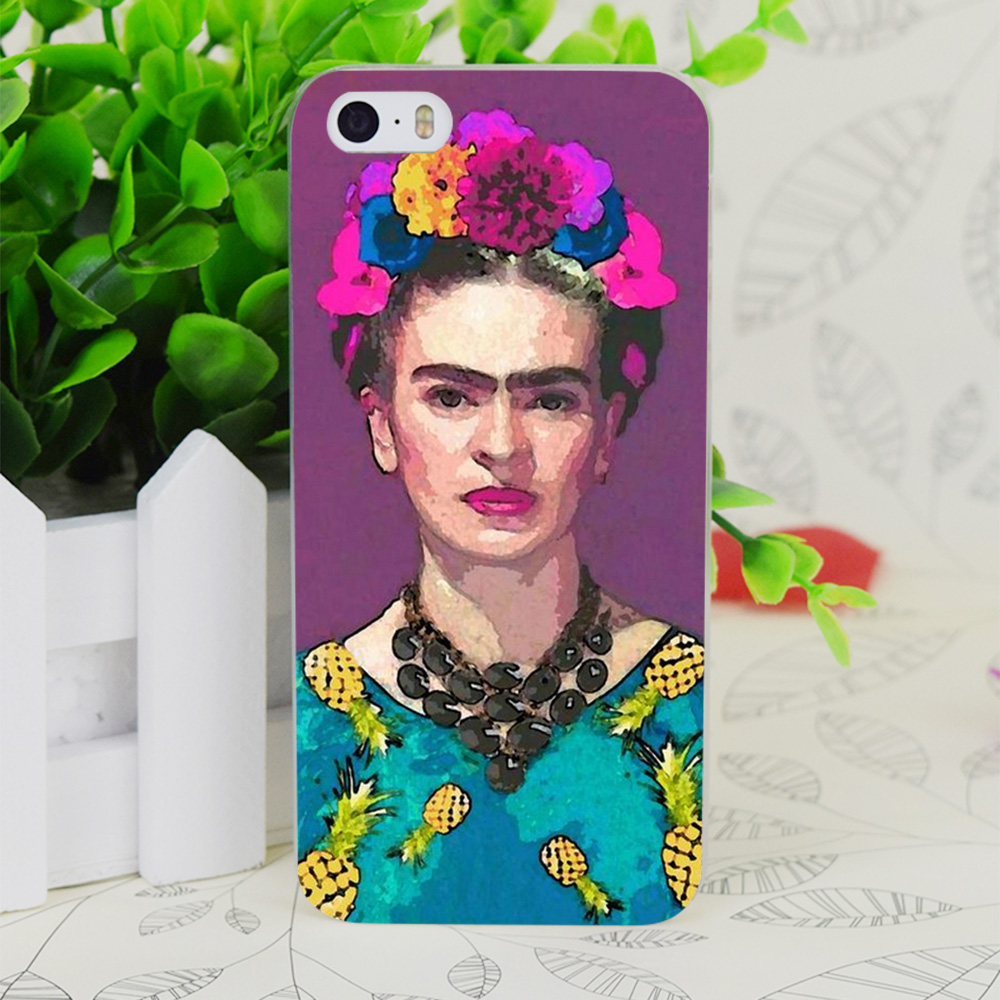 C2135 Trendy Frida Kahlo Transparent Hard Thin Case Skin Cover For Apple IPhone 4 4S 4G 5 5G 5S SE 5C 6 6S Plus(China (Mainland))
