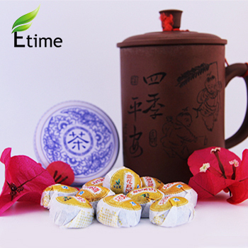 puer tea Top Quality Hot Selling Pure Natural Flavor Taste Lose Weight chysanthemum ripe tea 220g