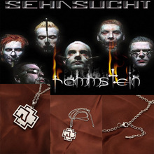 1pcs cheap fashion jewelry collana con pendente plated white gold rammstein logo pendant rammstein necklace for rammstein fans(China (Mainland))