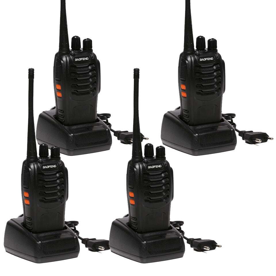 4 PCS Baofeng BF-888S Walkie Talkie 5W Handheld Pofung bf 888s UHF 5W 400-470MHz 16CH Two Way Portable CB Radio(China (Mainland))