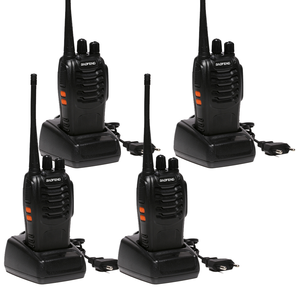 4 PCS Baofeng BF-888S Walkie Talkie 5W Handheld Pofung bf 888s UHF 5W 400-470MHz 16CH Two Way Portable CB Radio(China (Mainland))