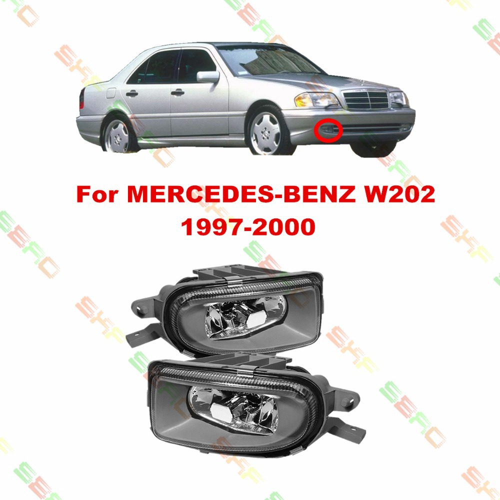 For MERCEDES-BENZ W202  1997-2000  car styling fog lights   1 SET  Crystal glass<br><br>Aliexpress