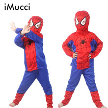 New 2016 Spider Man Children Clothing Sets Fashion Spiderman Party Cosplay Costume Kids Pajama Sets Long Sleeve(China (Mainland))