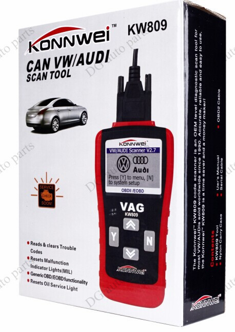 Car Diagnostic Scanner Konnwei KW809 VAG405 OBDII CAN Code Reader Tool for VW Audi