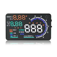 Universal Large Screen Head Up Display A8 Car OBD2 Interface Plug Car HUD Display(China (Mainland))