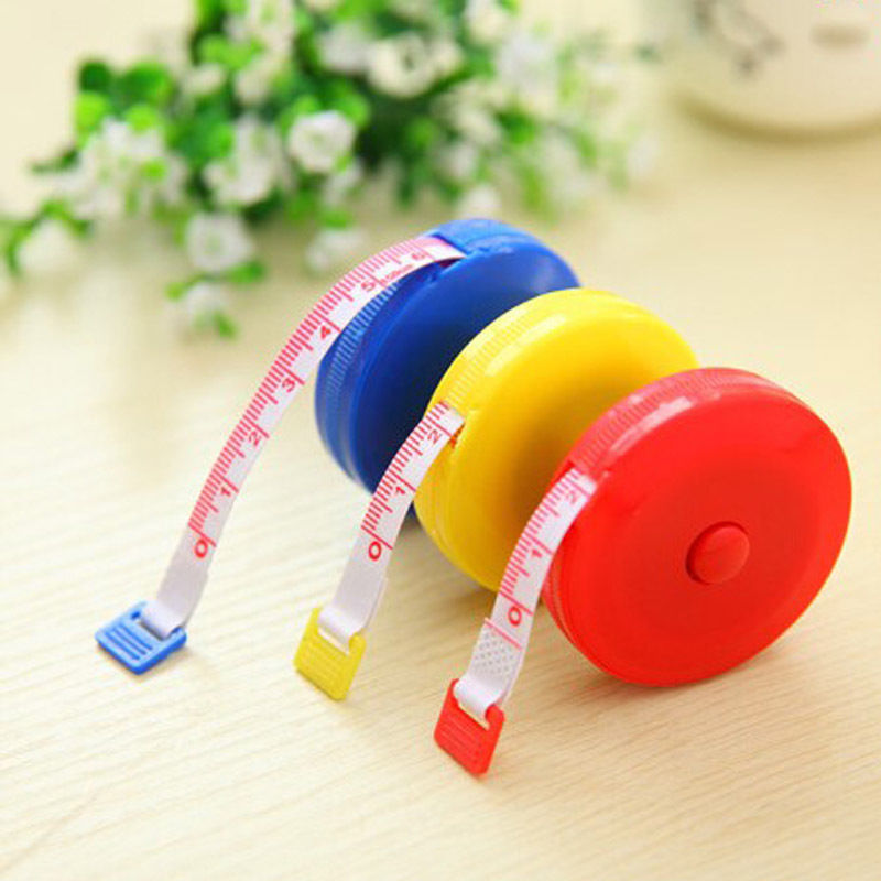 Гаджет  Pocket Plastic Round Tape Measure Tapeline Tape Measure Ruler Sewing Tool None Инструменты