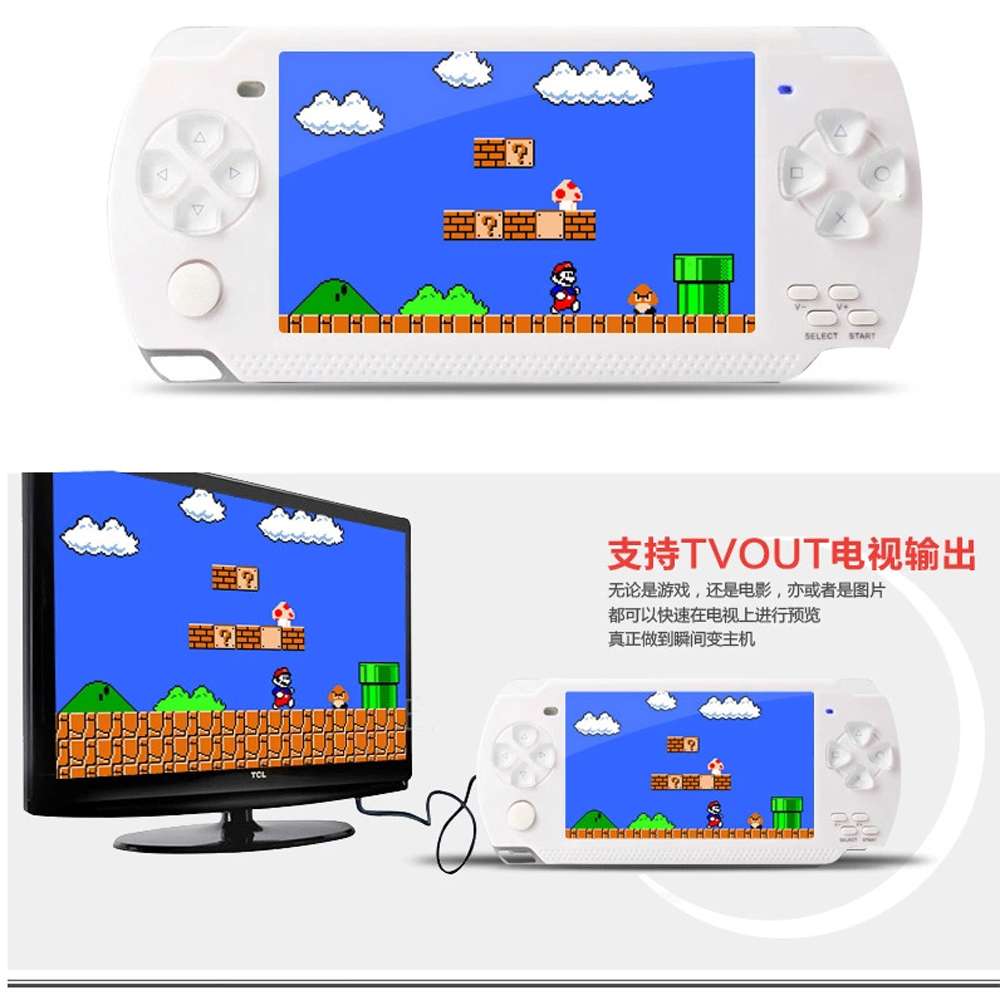 """4.3"""" LCD screen TV-Out handheld game player game console with 8GB MP5 player built-in free games voice recorder camera(China (Mainland))"""