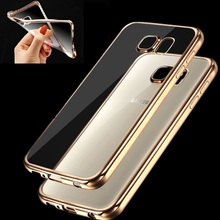 Gold plating Transparent Soft Back Case Mirror Cover For Samsung Galaxy Grand Prime A5 A7 A510 J5 J7 2015 2016 S5 Neo S6 S7 edge(China (Mainland))