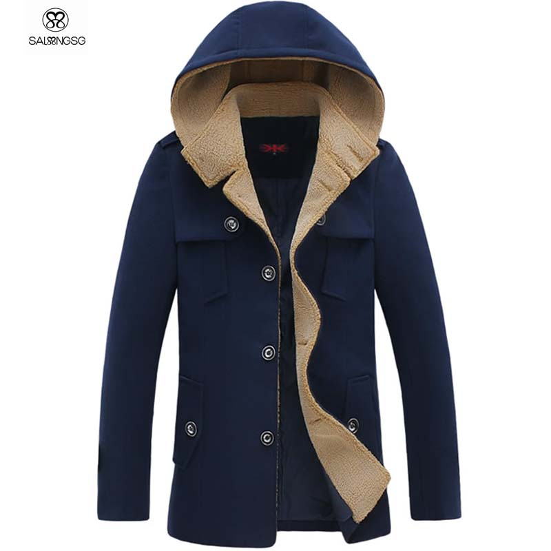Boys Pea Coat With Hood