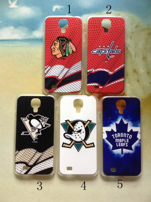 Ice hockey team Blackhawks Ducks Penguins Capitals Vancouver Canucks Maple Leafs case For Samsung Galaxy S4 i9500(China (Mainland))