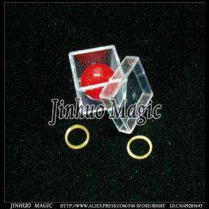 Magic Burglar Ball Crystal Box Examinable magic trick,300pcs/lot,for magic prop wholesale(China (Mainland))