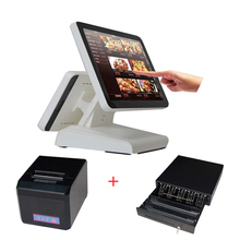 free shipping point of sale for retail all ine one pc pos system dual screen pos terminal system(China (Mainland))