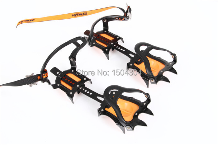 2016 Promotion New Ten Teeth Ice Crampons Size B For Common Outdoor Climbing Equipment,Snow Security Grippers(China (Mainland))