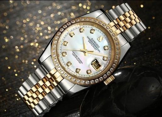 38 ММ SANGDO мужские часы Автоматическая Self-ветер движения Высокое качество Роскошные Механические часы 325BBB