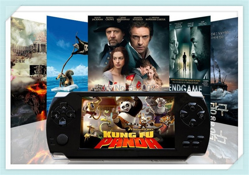 New 4.3 inch 8GB Portable game console Bulit in Camera PMP TV OUT Vedio Handheld Game Player Free 9999+ games MP3 MP4 MP5 Player(China (Mainland))