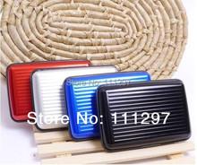Free Shipping 300pcs 9 colors Aluminium Wallet As Seen On TV Credit Card Holder Aluma Wallet Card Guard(China (Mainland))