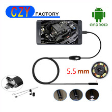 Buy HD480P 5.5mm Android USB Waterproof Endoscope Camera 6LED Flexible USB Endoscope 10M Long Cable Android OTG USB Borescope Camera for $12.15 in AliExpress store