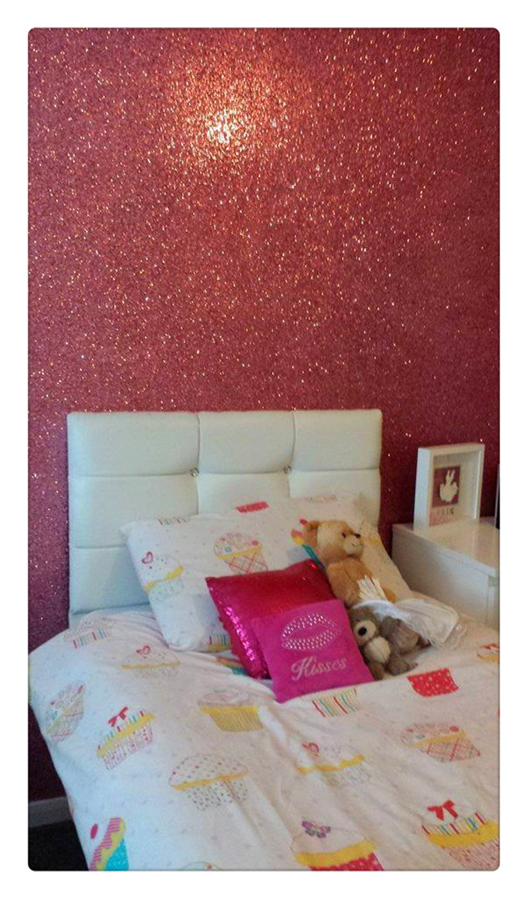 Buy 50 meter per roll glitter for Baby pink glitter wallpaper