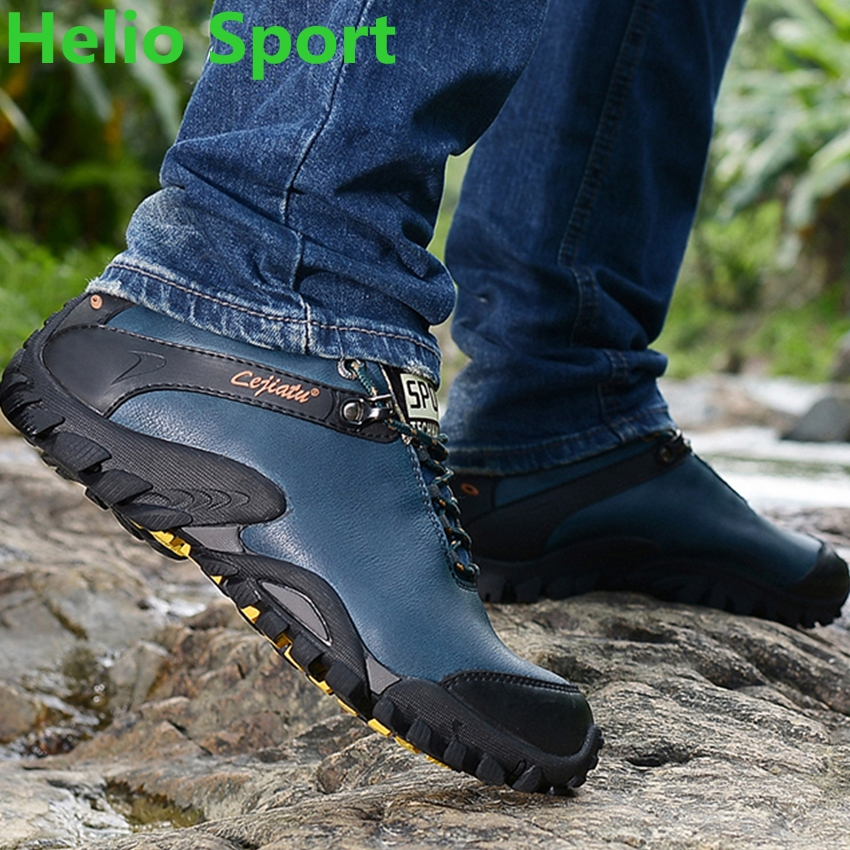 outdoor sport hiking shoes men hunting trekking waterproof genuine leather outventure trail senderismo sneakers shoes zapatos(China (Mainland))