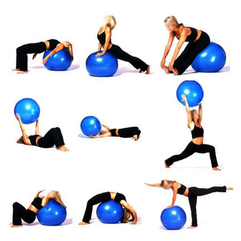 2015 Hot 65cm Exercise Fitness Aerobic Ball For GYM YoGa Pilates Pregnancy Birthing Swiss + inflated pump(China (Mainland))