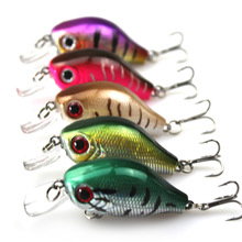 2015 New 1pc Bionic Fishing Lure Bass Crank Bait Crankbait Tackle Hooks 5.5CM/8.5g Free Shipping