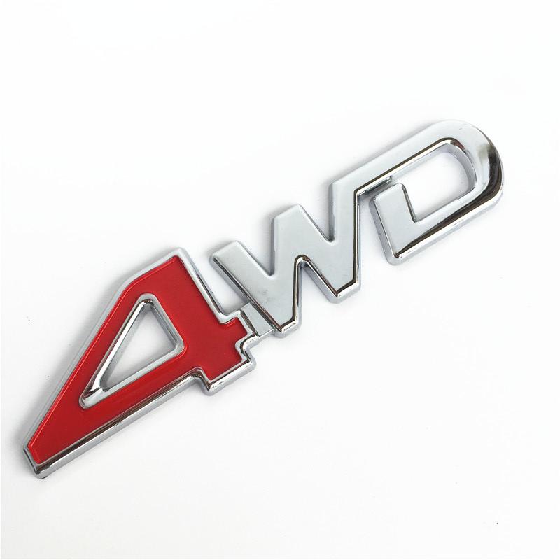 Car Styling 3D Chrome Metal Sticker 4WD Emblem 4X4 Badge Decal SUV Rear Trunk Off-road For Toyota Highlander RAV4 Tiguan Honda(China (Mainland))