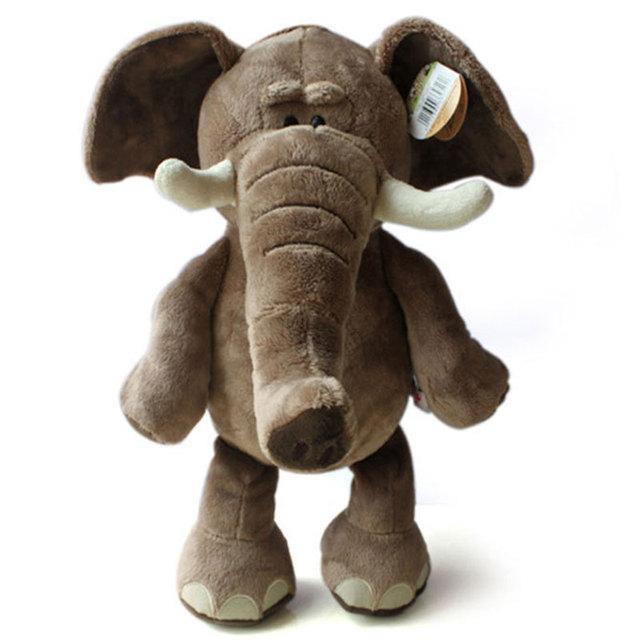 Дети плюшевые игрушки новое поступление прекрасный плюшевые игрушки слон 35 см высокое качество плюшевые игрушки кукла прямая поставка HT443