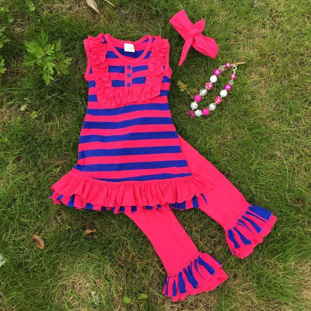 Koop aangepaste ontwerp mooie nieuwe ontwerp hot pink blauwe strepen capri - Zoom ontwerp ...