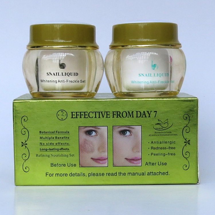 2014 New Arrival FEIQUE snail liquid whitening anti freckle cream 20g+20g 12 sets/lot face care<br><br>Aliexpress