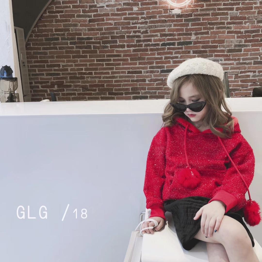 2018 новая зимняя детская одежда для девочек свитер детские толстовки короткая undefined
