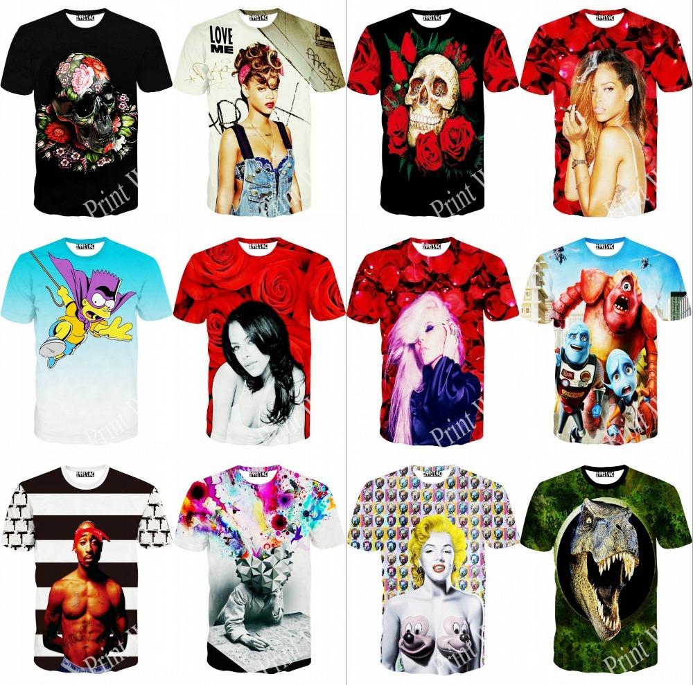 Женская футболка 2015 harajuku t 3D Rihanna t 3D print пазл 73 5 x 48 8 1000 элементов printio эйфелева башня