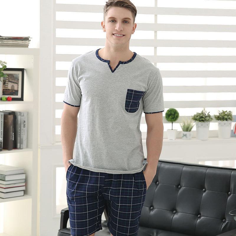 Buy 2015 Summer Lounge Wear Cotton Soft Mens Pajamas sets Short ...