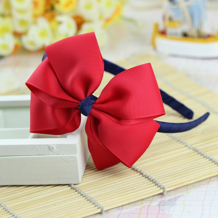 Red Big Flower children kids baby girls hair accessories hair bands headwear bow Retail wholesale Boutique tiara GG-1-2(China (Mainland))