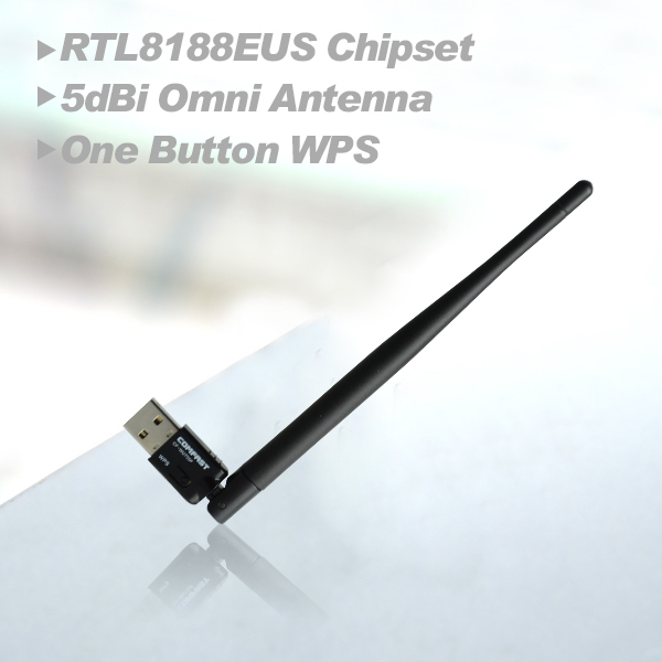 Wireless Adapter 150M Computer USB network Card 802.11n/g/b 2.4G wifi Adapter with wifi antenna wifi Dongle Network CF-WU755P(China (Mainland))