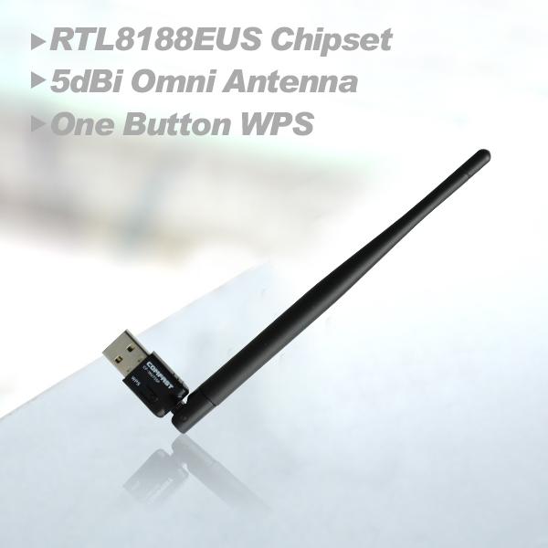 Wireless Adapter 150M Computer USB network Card 802.11n/g/b 2.4G wifi Adapter with wifi antenna wifi Dongle Network CF-WU755P(China (Mainland))