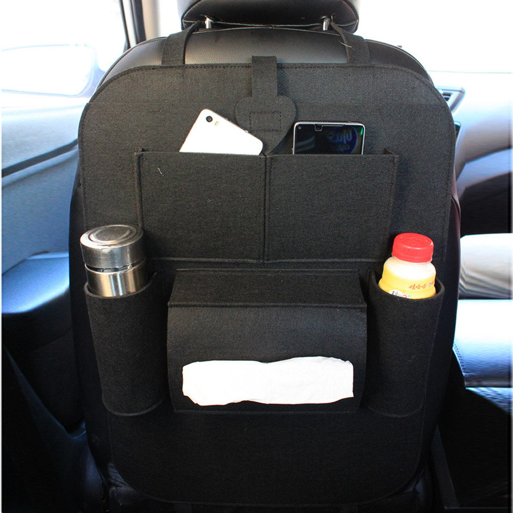 Auto Car Back Seat Boot Organizer Car Felt Covers Back Seat Organizer Insulation Versatile Multi-Pocket Storage Container Bag(China (Mainland))