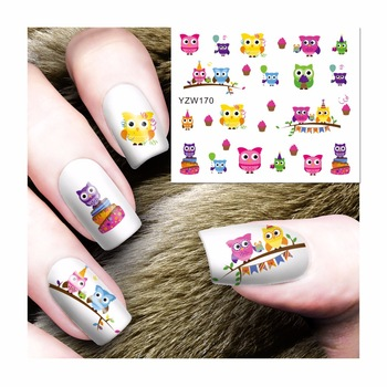 Fashion Blooming Flower Designs DIY Decals Nails Art Water Transfer Printing Stickers For Manicure Salon 170