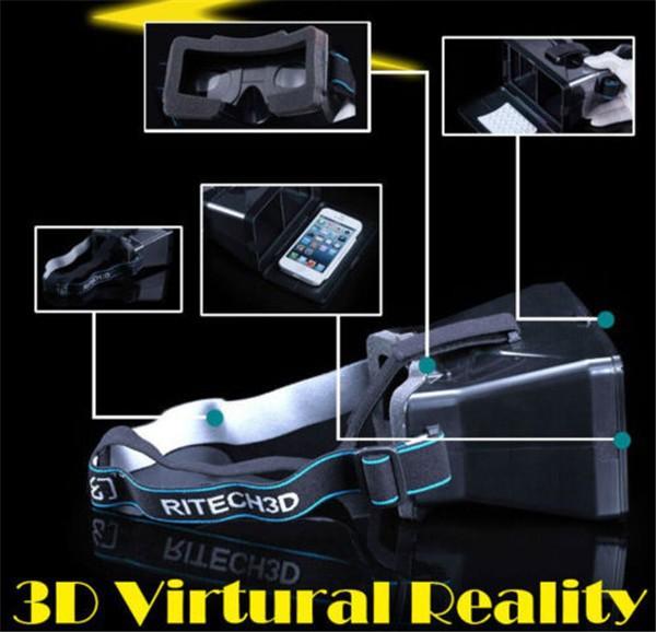 3D Glass Color Cross Universal Google cardboard Virtual Reality 3D Video google Glasses mobile phone(China (Mainland))