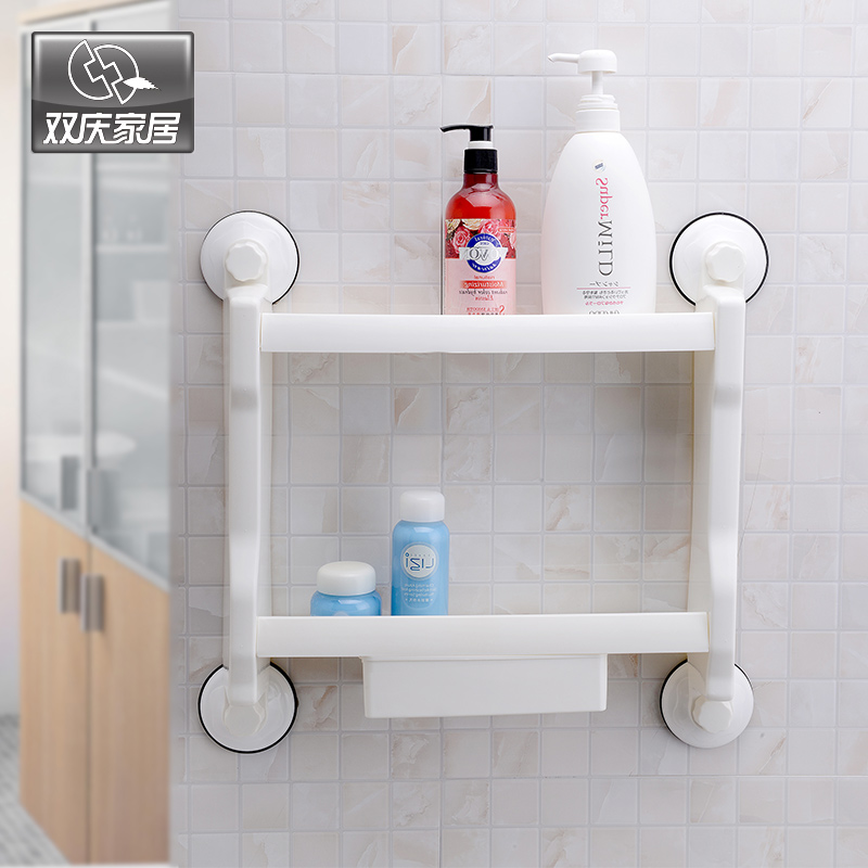 Double tier bathroom shelves wall mounted type cupsful for Bathroom salle de bain