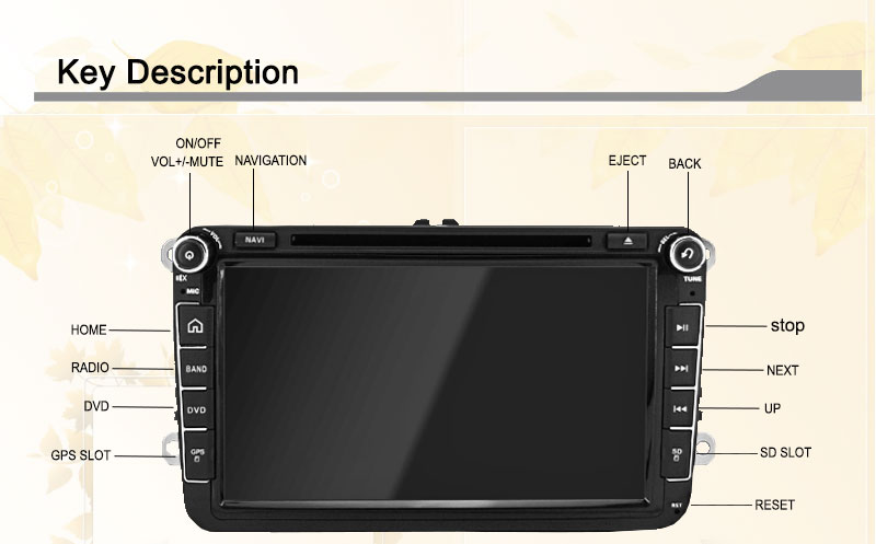 ReadyStock Factory sell OEM fit radio rns510 for VW passat jetta polo Car DVD GPS Stereo golf car multimedia RDS android
