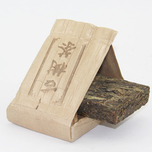 Bamboo Brick Tea 250g Raw Puer Tea Sheng Puerh Raw Tea Leaves Lose Weight Products Chinese Puer Tea Old Tree Puerh Brick Pu er