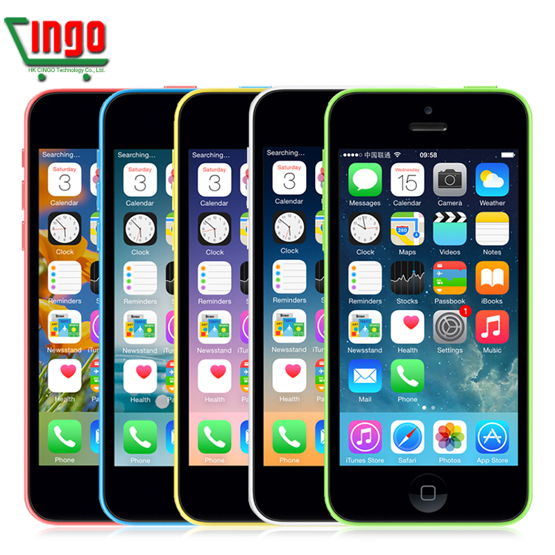 Free shipping Best Quality original Apple iPhone 5C Unlocked Mobile Phone 16GB rom iphone5C 8mp camera GSM/WCDMA iphone5c