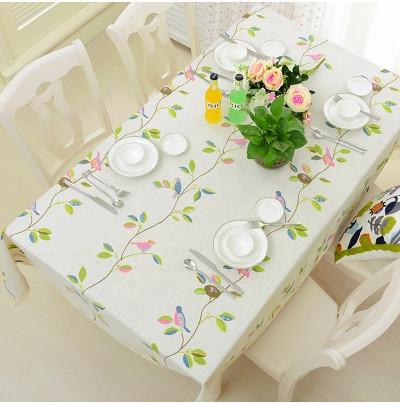 Bird Print Table Cloth