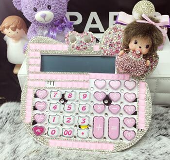 2016 New 12 digit pink cute hello kitty calculator wholesale 17*18CM calculator no voice cute calculator